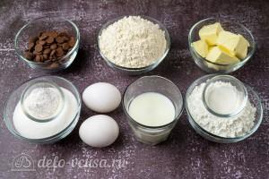 Мягкое печенье с шоколадной крошкой: Ингредиенты