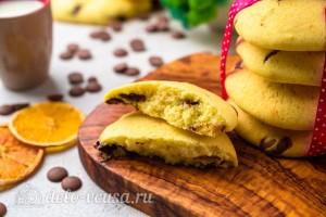Мягкое печенье с шоколадной крошкой готово