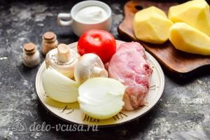 Мясо по-королевски с картошкой и грибами: Ингредиенты