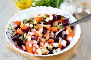 Соединяем все подготовленные овощи