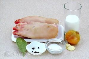 Деликатесные вареные свиные ножки: Ингредиенты