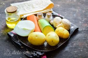 Овощное рагу в лаваше: Ингредиенты