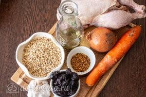 Перловка с курицей и черносливом в рукаве: Ингредиенты