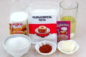 Сахарные плюшки «Сердечки» с корицей: Ингредиенты