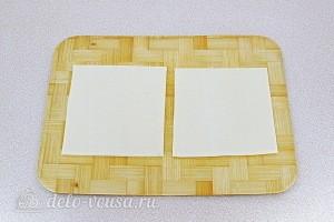 Делим тесто на квадраты со стороной 12 см