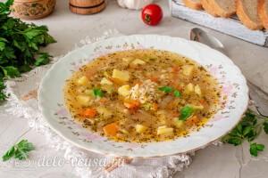 Суп с рисом и кабачком готов