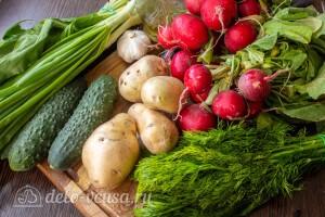 Теплый картофельный салат с редиской и зеленью: Ингредиенты