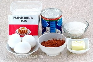 "Торт ""Мир грёз"" со сгущенкой: Ингредиенты"