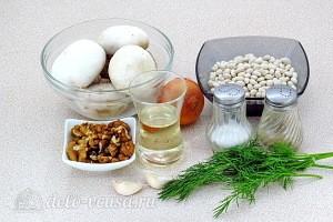 Тушеная фасоль с грибами и грецкими орехами: Ингредиенты