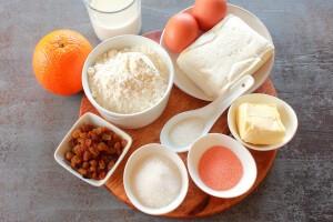 Творожный кулич с апельсином: Ингредиенты