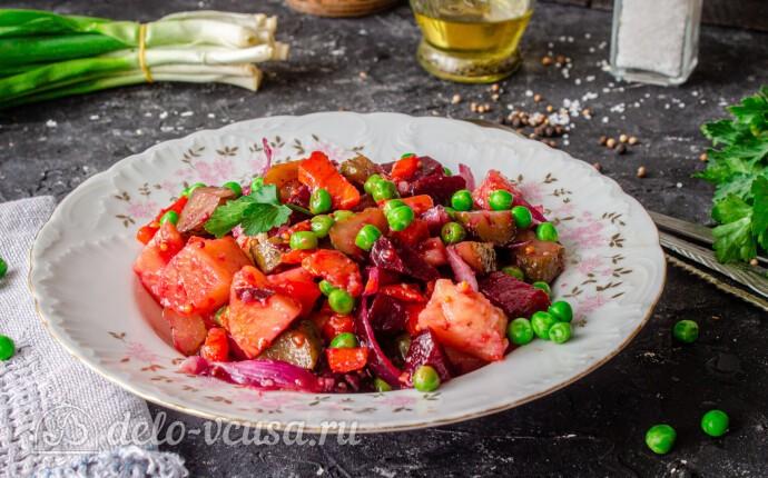Рецепт винегрет из запеченных в духовке овощей