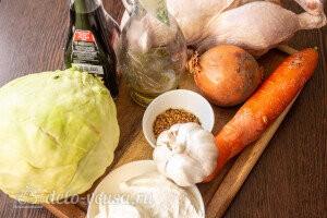 Запеченная курица с капустой в рукаве: Ингредиенты