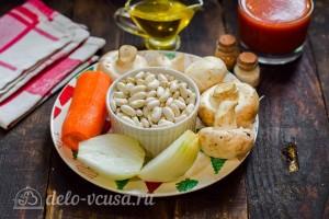 Фасоль с грибами в томатном соусе: Ингредиенты