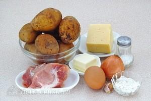 Картофельная бабка по-белорусски в горшочках: Ингредиенты
