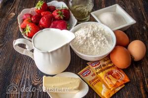 Нежнейший клафути с клубникой: Ингредиенты