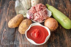 Печеный картофель с мясным соусом: Ингредиенты