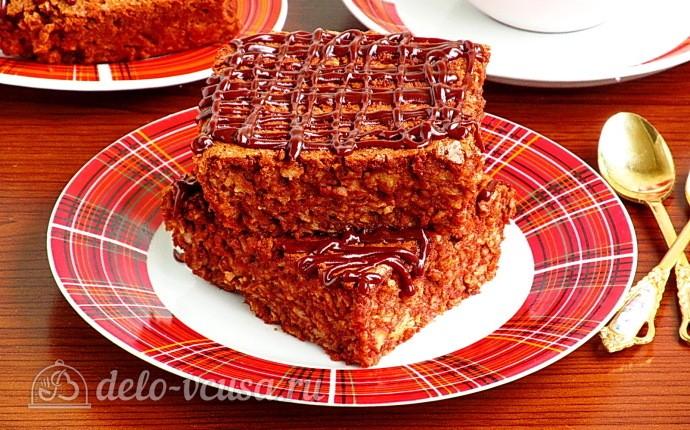 Рецепт шоколадно-овсяная запеканка с орехами
