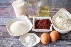 Шоколадный бисквит на кипятке (влажный): Ингредиенты
