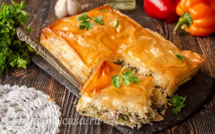Спанакопита – греческий пирог со шпинатом и фетой