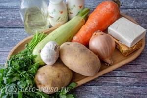 Сырный суп с кабачками: Ингредиенты