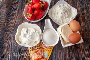 Цветаевский пирог с клубникой: Ингредиенты