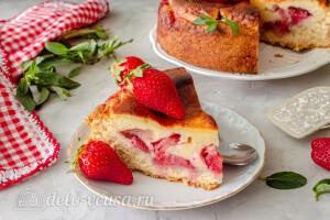 Цветаевский пирог с клубникой готов