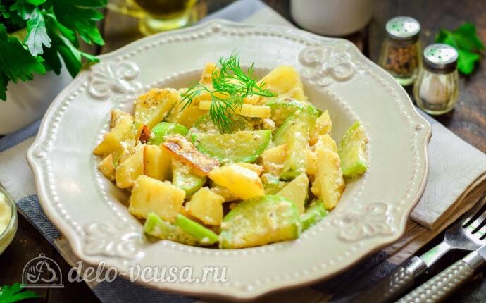Тушеные кабачки с картошкой в сливках: фото блюда приготовленного по данному рецепту