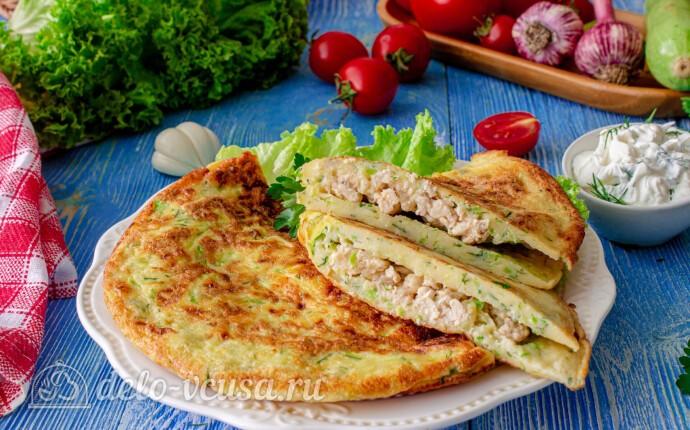 Рецепт «фальшивые» чебуреки из кабачков с куриным фаршем