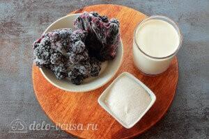 Домашнее ежевичное мороженое: Ингредиенты