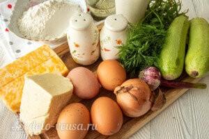 «Фальшивые» чебуреки из кабачков с сыром: Ингредиенты