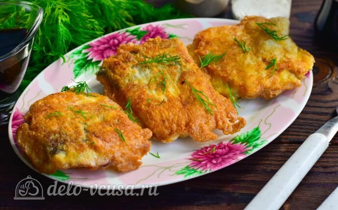 Филе хека в сырном кляре: фото блюда приготовленного по данному рецепту