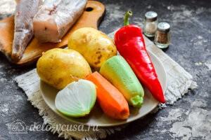 Диетический хек с картофелем и овощами в рукаве: Ингредиенты
