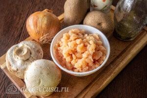 Картофельные драники с курицей и грибами: Ингредиенты
