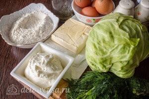 Киш с капустой и яйцом: Ингредиенты