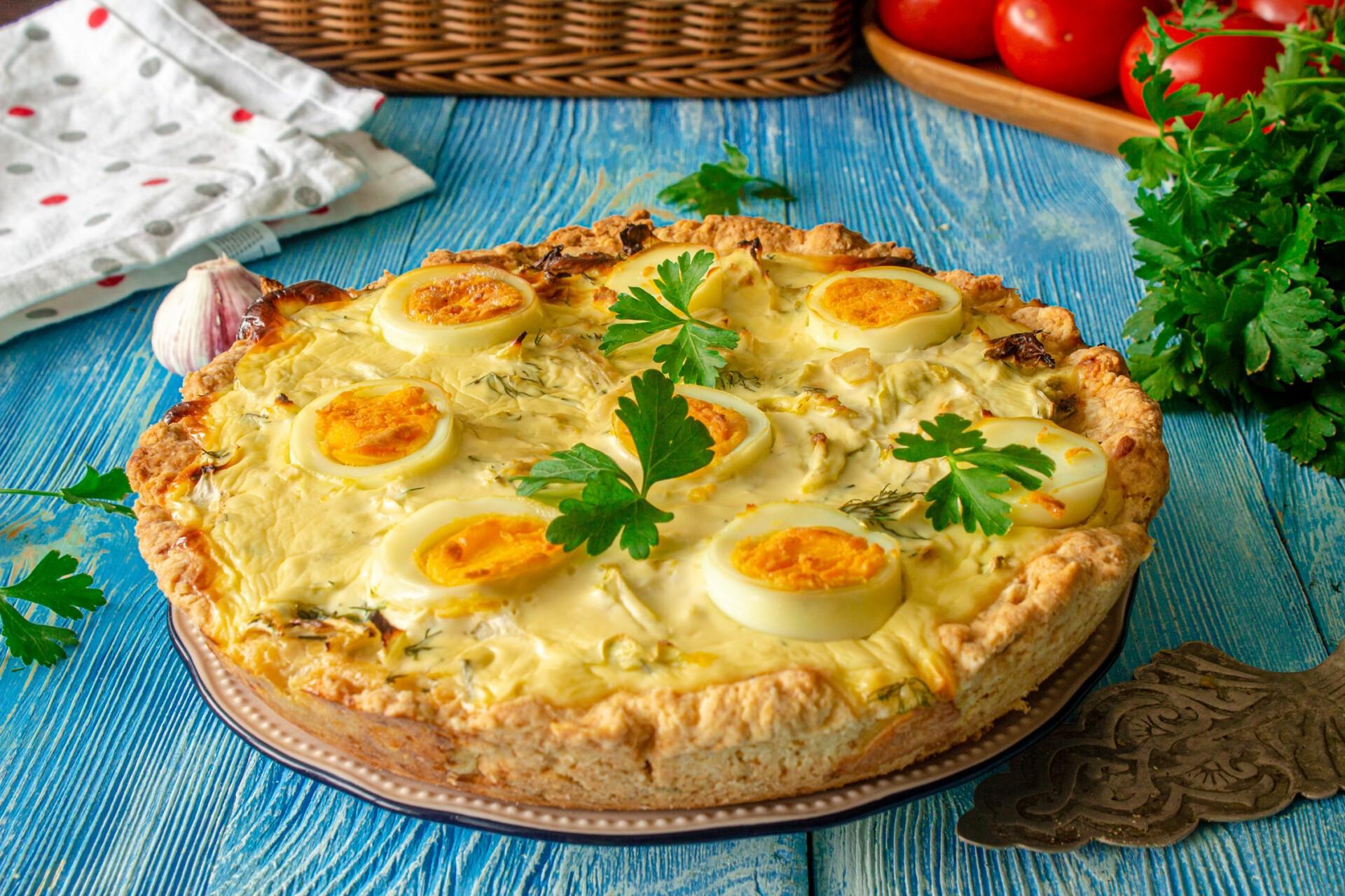 Рецепт киш с капустой и яйцом
