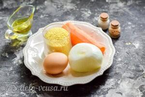 Котлеты из кускуса на сковороде: Ингредиенты