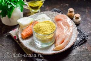 Кускус с курицей на сковороде: Ингредиенты