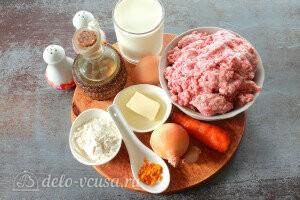 Мясные тефтели с булгуром в сливочно-молочном соусе: Ингредиенты