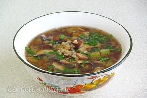 Постный гречневый суп с грибами готов