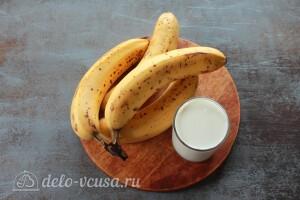 Простое банановое мороженое на молоке: Ингредиенты