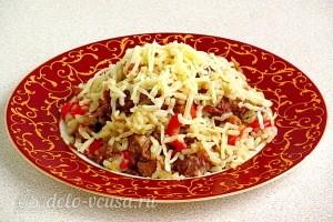 Рис с тушёнкой и болгарским перцем готов