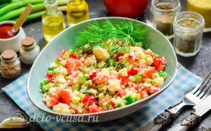 Салат «Табуле» с кускусом: фото блюда приготовленного по данному рецепту