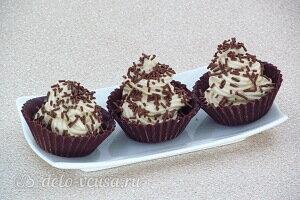 Шоколадные корзинки с кофейным кремом готовы