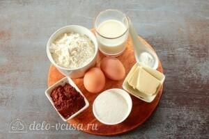 Шоколадные венские вафли в вафельнице: Ингредиенты