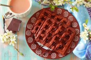 Шоколадные венские вафли готовы