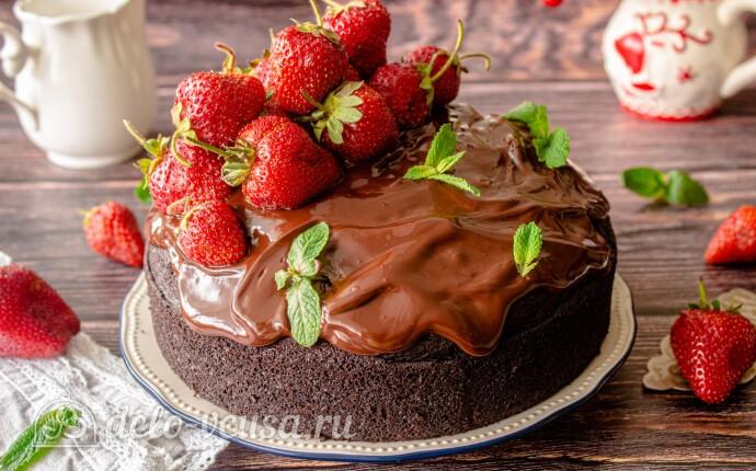 Шоколадный торт «На раз, два, три»: фото блюда приготовленного по данному рецепту