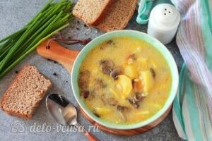 Сливочный суп с шампиньонами и булгуром готов
