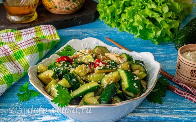 Битые огурцы по-китайски: фото блюда приготовленного по данному рецепту