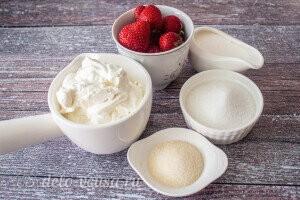 Бланманже с клубникой и йогуртом: Ингредиенты