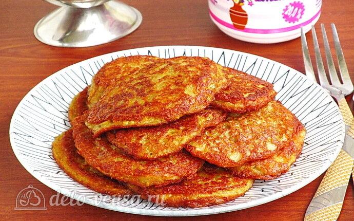 Рецепт блинчики из тёртого картофеля на кефире